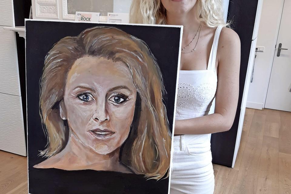 Leerling van Laar & Berg, Dayna, met portret van Aaltje van Zweden.