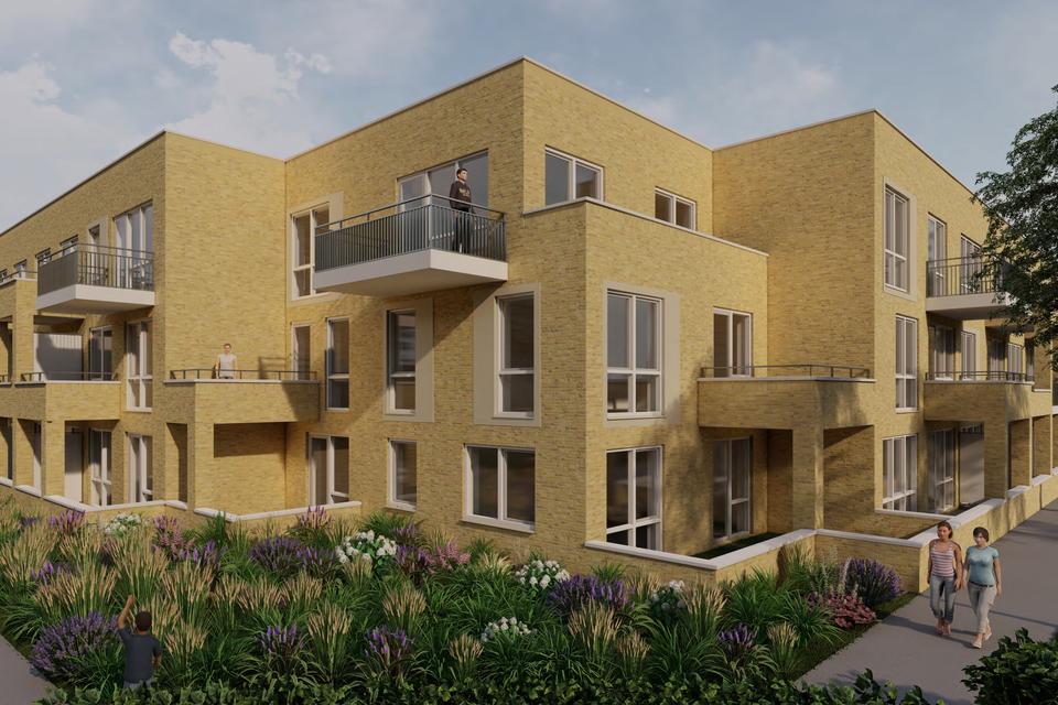 Aan Het Anker in Muiden moeten 41 nieuwbouwwoningen komen.