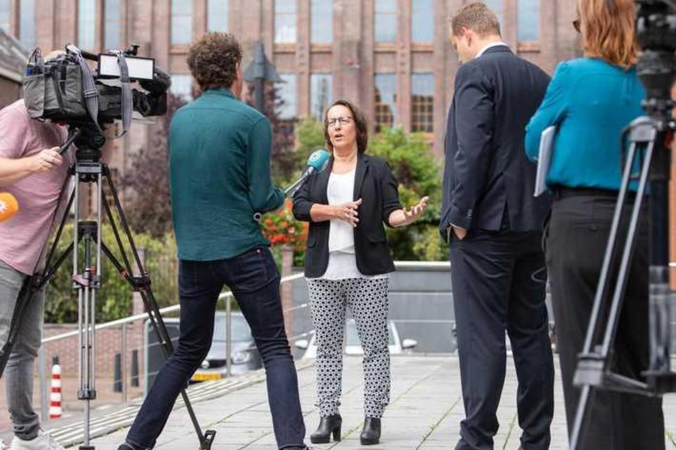 Persrechter Nicolle Kranenbroek van de rechtbank Midden Nederland in augustus tijdens interviews over de Mallorca-zaak.
