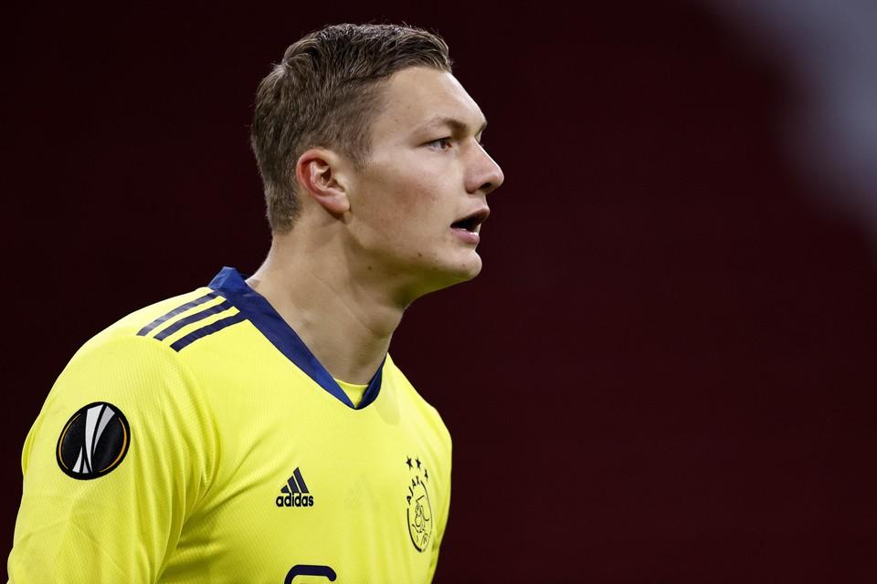 Kjell Scherpen stond op doel bij Ajax tegen Roma.
