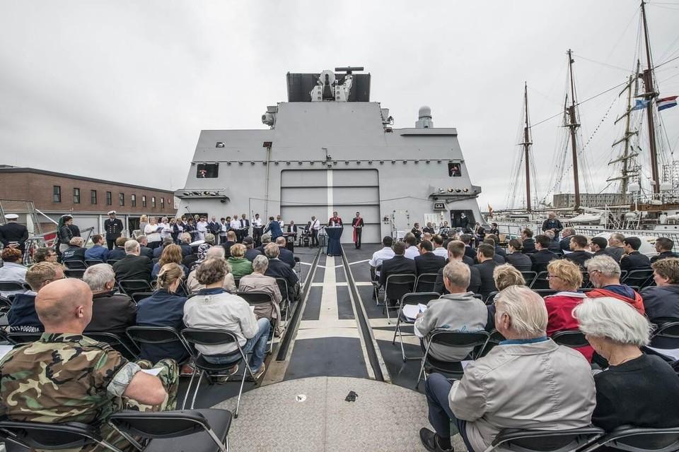 In 2017 werd nog een dienst aan dek gehouden tijdens Marinedagen.