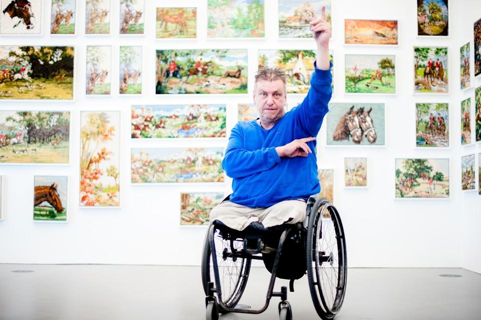 Rob Scholte hoopt zijn kunst weer in beheer te krijgen, zodat hij onder andere tentoonstellingen kan houden.