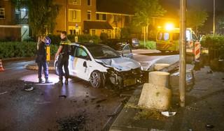 Ravage en verwondingen bij eenzijdige crash op Delta in Huizen
