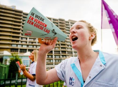 Landelijke ziekenhuisstaking op 20 november, minimaal helft van alle ziekenhuizen doet naar verwachting mee