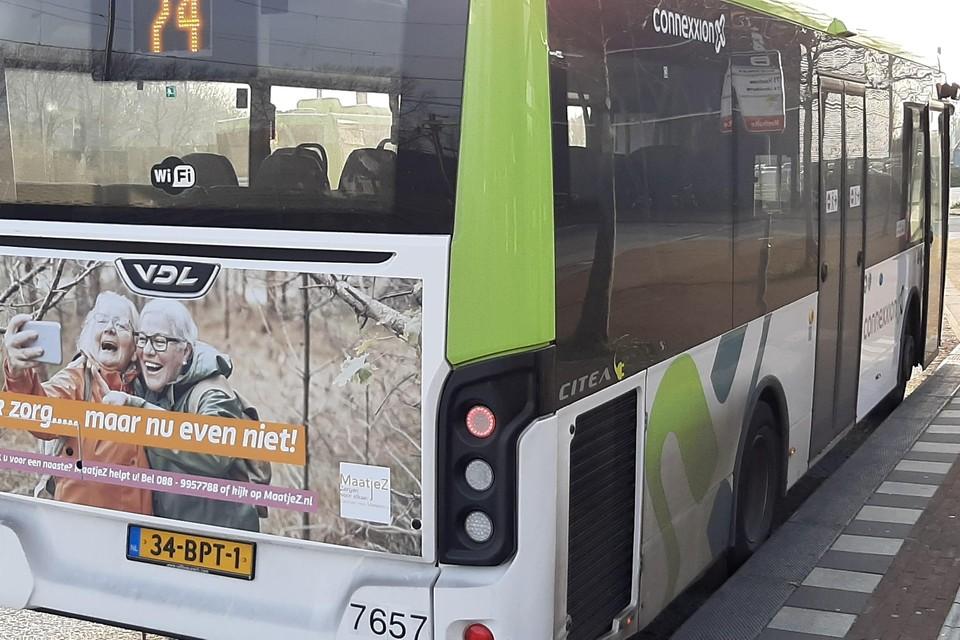 De fotocampagne van MaatjeZ op Connexxionbussen afgelopen december.