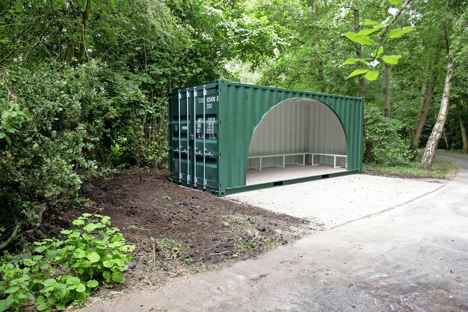 Een voorbeeld van een container voor jongeren.