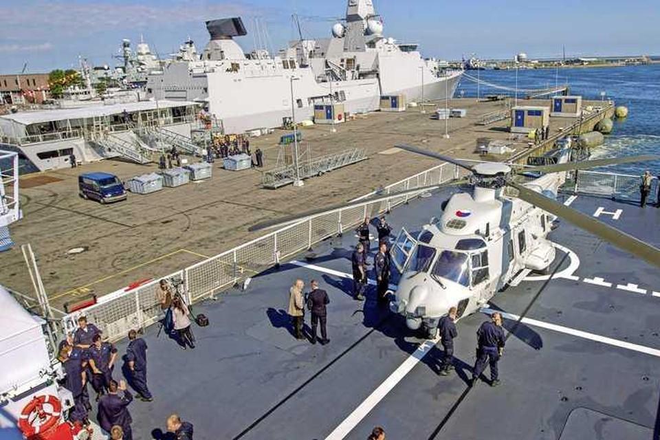 Een NH90 in Den Helder tijdens de voorbereidingen van de Marinedagen.
