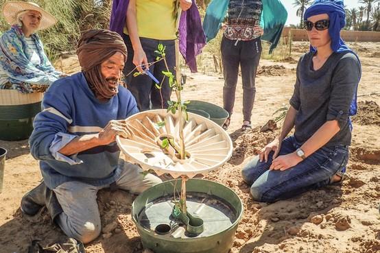 Karin Sluis uit Hem helpt Marokkaans dorp in strijd tegen de woestijn