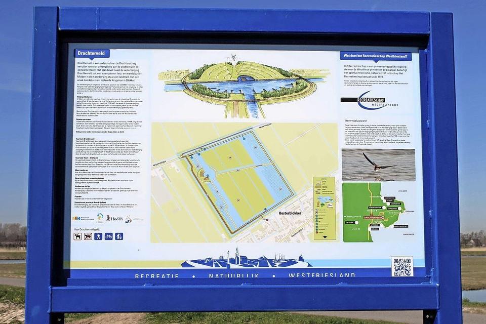 Informatiebord in het Drachterveld.