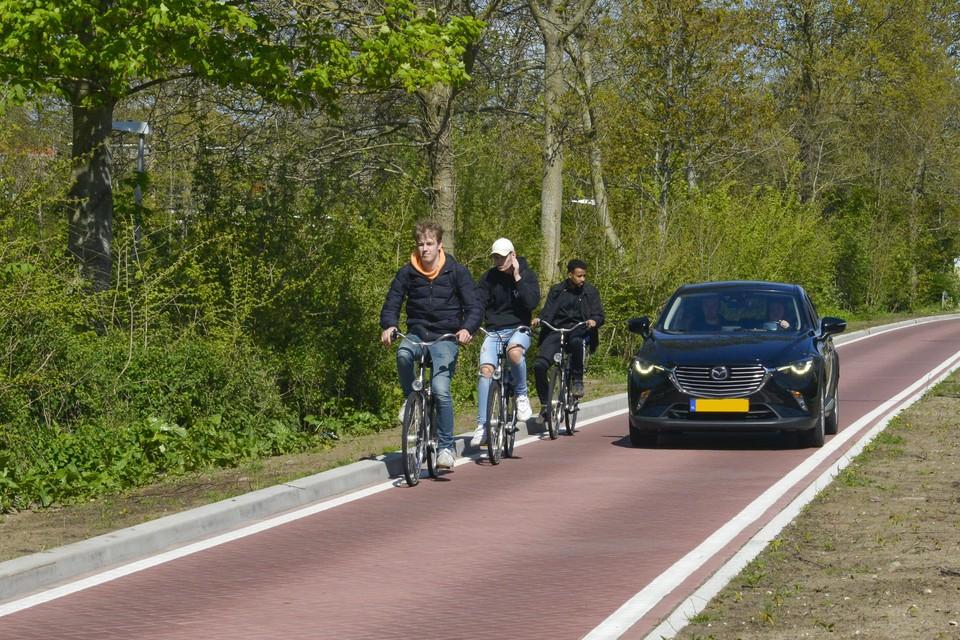 De Emmalaan blijkt gevaarlijk voor fietsers.