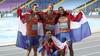 Jochem Dobber uit Santpoort-Zuid wint uniek goud estafettemannen op 4x400 bij WK in Polen