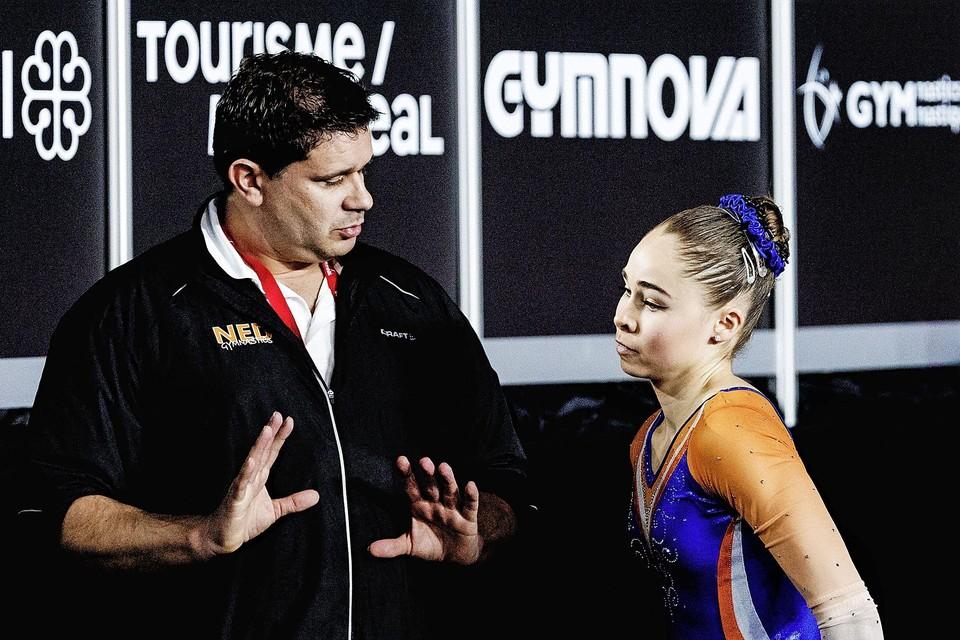 Patrick Kiens met zijn pupil Eythora Thorsdottir.