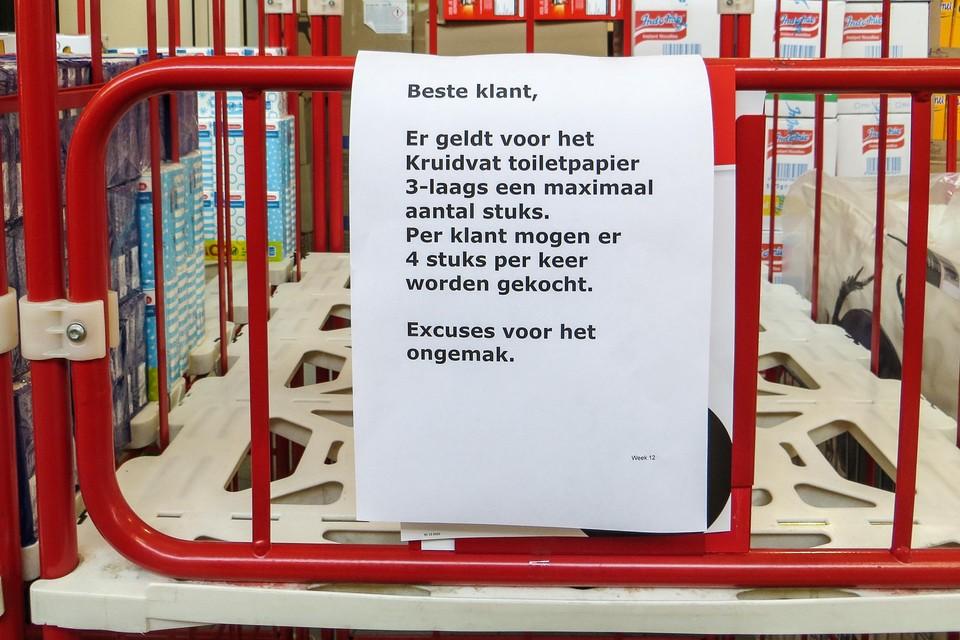 Kruidvat in Koog aan de Zaan legt verkoop van toiletpapier aan banden.