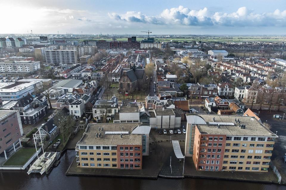 Foto Wim Egas Luchtfoto Westzijde Bullekerk