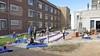 Gymnastiekvereniging Wilskracht turnt weer, maar dan op binnenplaats verpleeghuis de Keern in Landsmeer