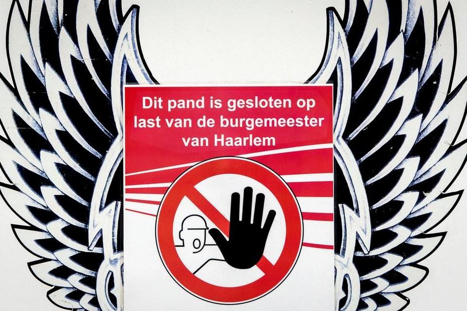 Het clubhuis van de Haarlemse Hells Angels werd vier jaar geleden gesloten.