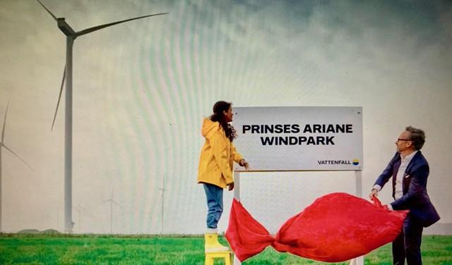 'Prinses Ariane Windpark' in Wieringermeer via livestream geopend door Vattenfal-ceo Martijn Hagens en Indira [video]