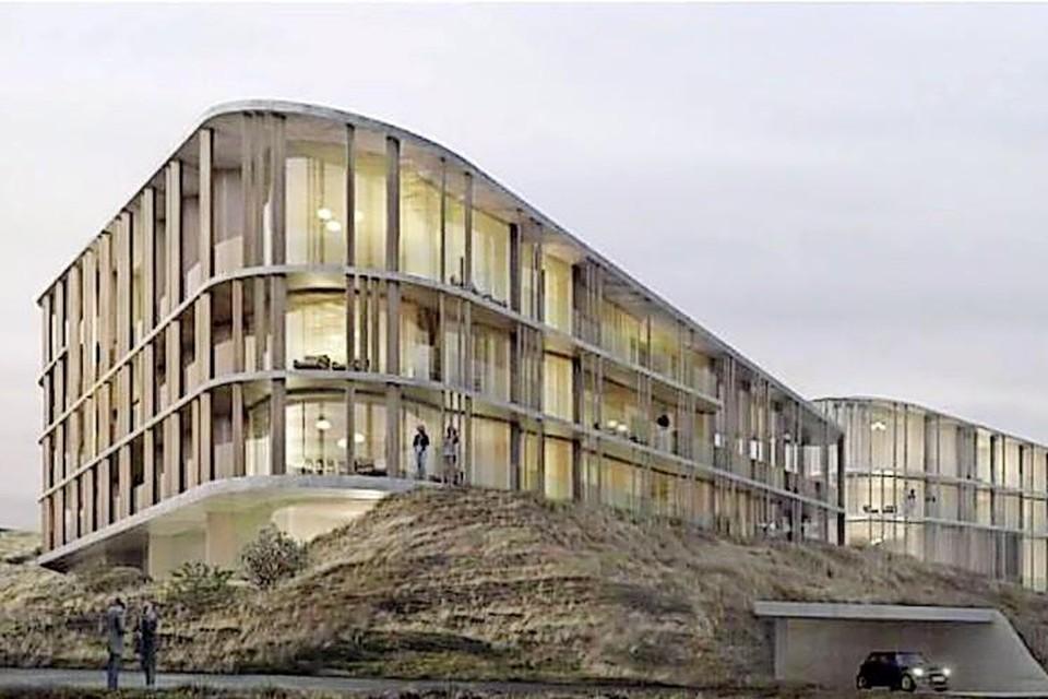 Impressie van het nieuwe Hotel Nassau, in de duinen bij Bergen aan Zee.