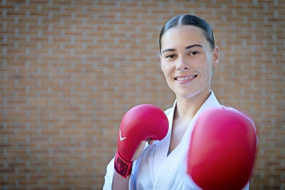 Karateka Lynn Snel.