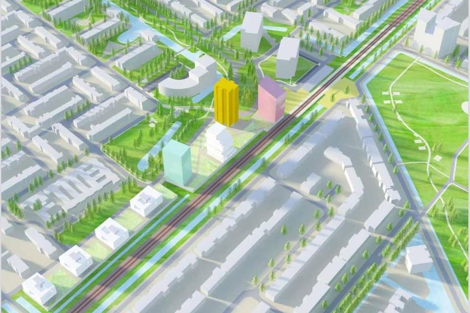 Zo zou het stationsgebied eruit kunnen zien over tien jaar.