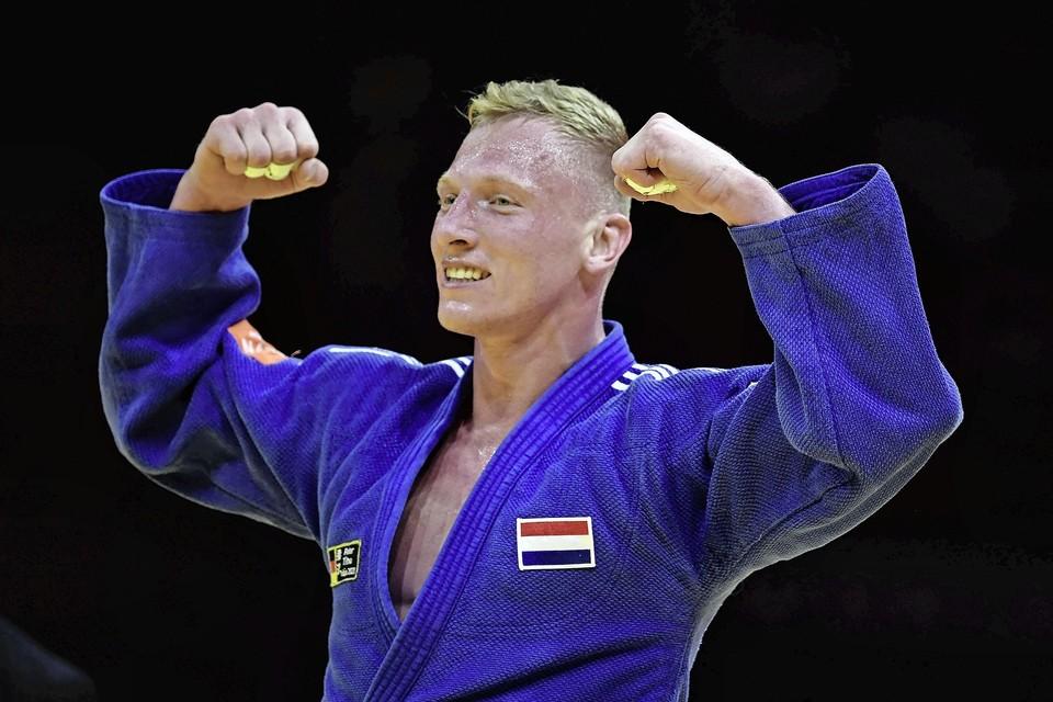 Frank de Wit na het winnen van brons op WK in Budapest.