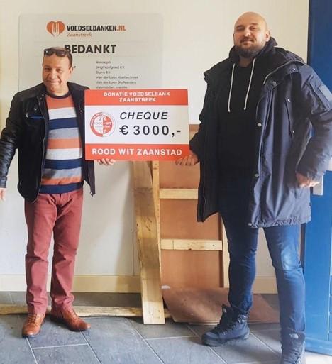 3000 euro voor Voedselbank van Rood-Wit Zaanstad, voedselinzameling uitgebreid, hulp voor de allerarmsten in de Zaanstreek