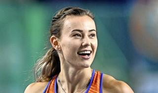 Nadine Visser prolongeert Europese indoortitel op 60 meter horden. Hoogkarspelse atlete is klasse apart