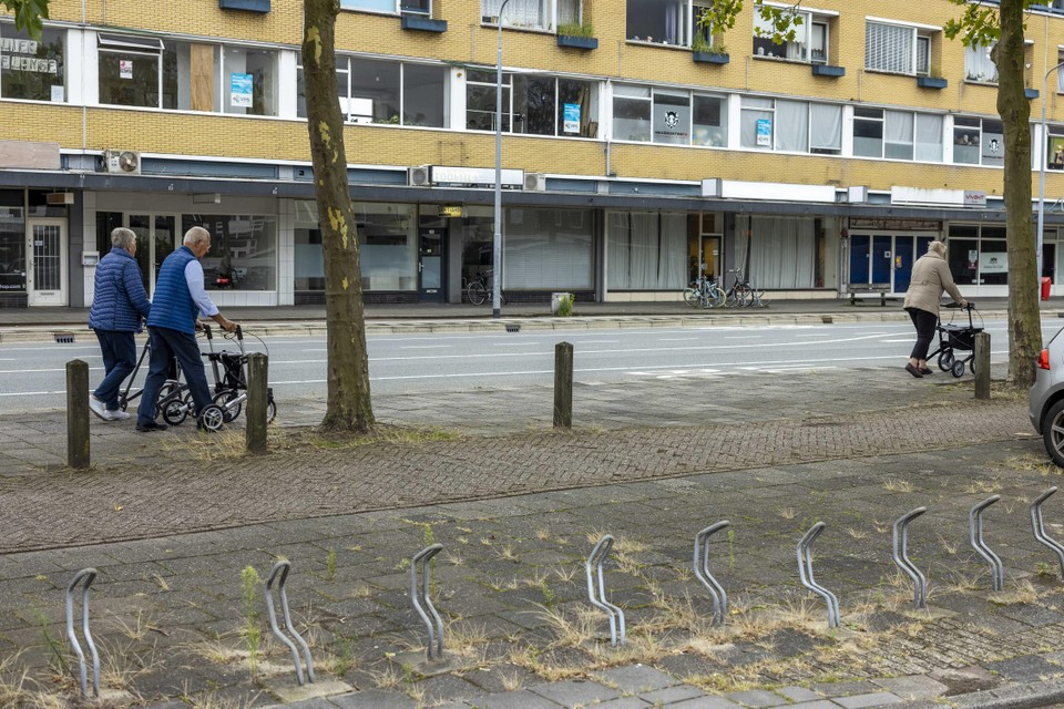 Veel leegstand en anti-kraakbewoning in de Peperstraat.