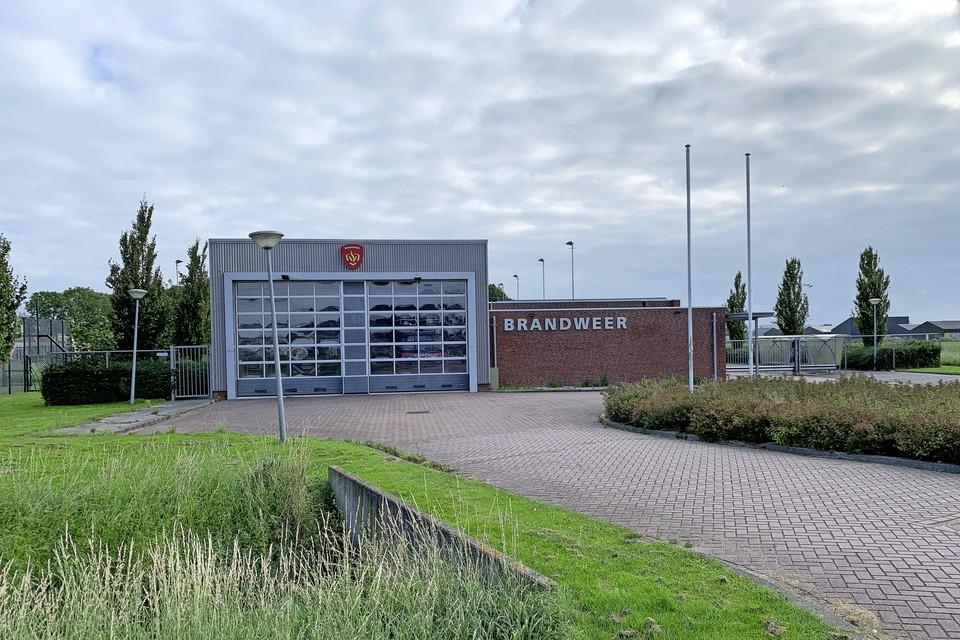 De brandweergarage langs de Koggeweg in Hem.