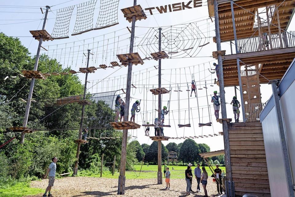 Het klimpark in Het Twiske.