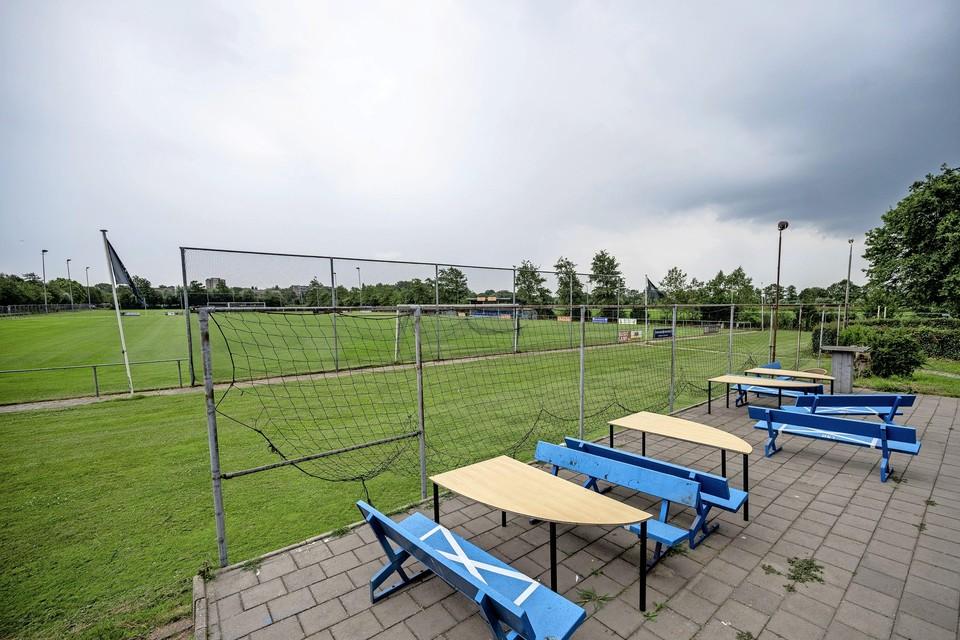 Sportpark De Elta, waar een camping komt tijdens de Grand Prix.
