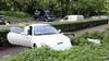 Gehuurde Ferrari crasht op Zuidersingel in Eemnes