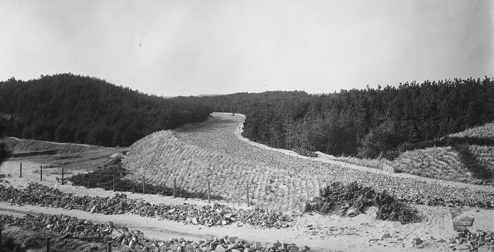 Het circuit in aanleg in 1948.