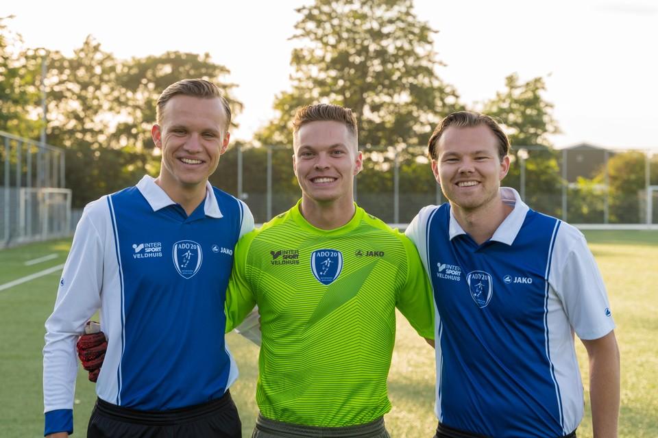 De neven Kaj van Langelaar, Nick Boom en Marvin Boom.
