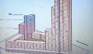 229 meter de lucht in: Hoorns bouwplan voor hoogste toren van Nederland. Politiek in het geheim ingelicht over ambitieuze en spectaculaire 'wolkenkrabber'