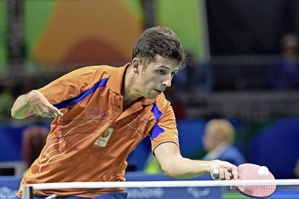 Jean-Paul Montanus in actie tijdens de Paralympische Spelen in Rio de Janeiro.