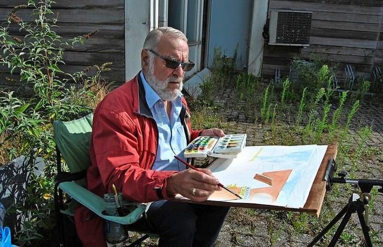 Schilderen als Monet in de traditionele Domineestuin