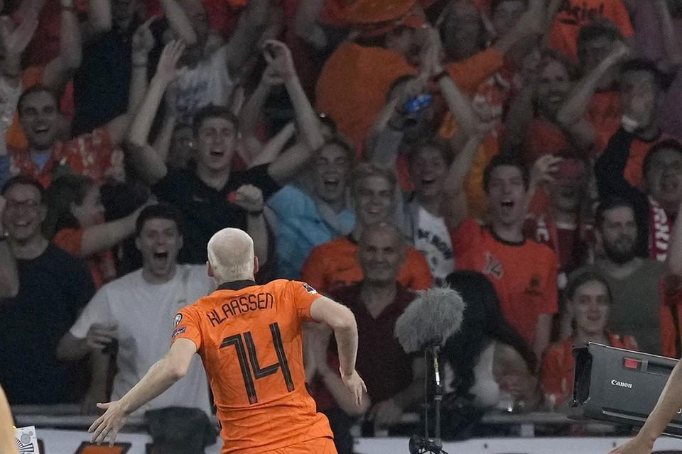 Davy Klaassen in thuiswedstrijd tegen Turkije.
