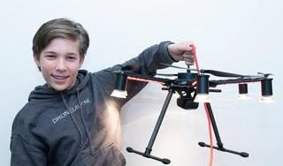 Amsterdamse Drone Week opent met 'dronelamp' van 14-jarige scholier uit Heemstede
