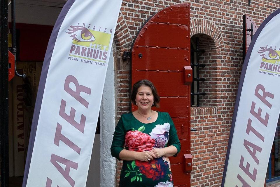 Janine Slijkhuis van theater Het Pakhuis: 'blij dat we open kunnen blijven'.