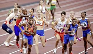Coach kritisch op gemengde estafetteploeg. 'Ik had een medaille verwacht, we hadden goud kunnen winnen en een wereldrecord kunnen lopen'