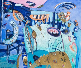 Van hemelsblauw tot 'ins blaue hinein', heel veel blauw op expositie van Anneke Peereboom in Den Helder