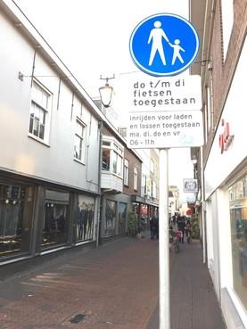 'Fietsers in zijstraatjes Breestraat geen probleem', vindt college van B en W in Beverwijk