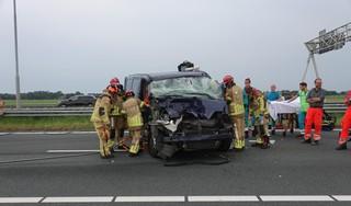 Groot ongeval op A7 bij Wijdewormer; snelweg afgesloten in richting van Amsterdam