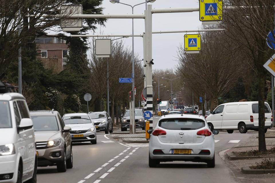 Verkeersdrukte op de Johannes Geradtsweg.