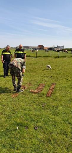 59 Russische granaten in voortuin op Texel: 'O, dit is echt serieus'