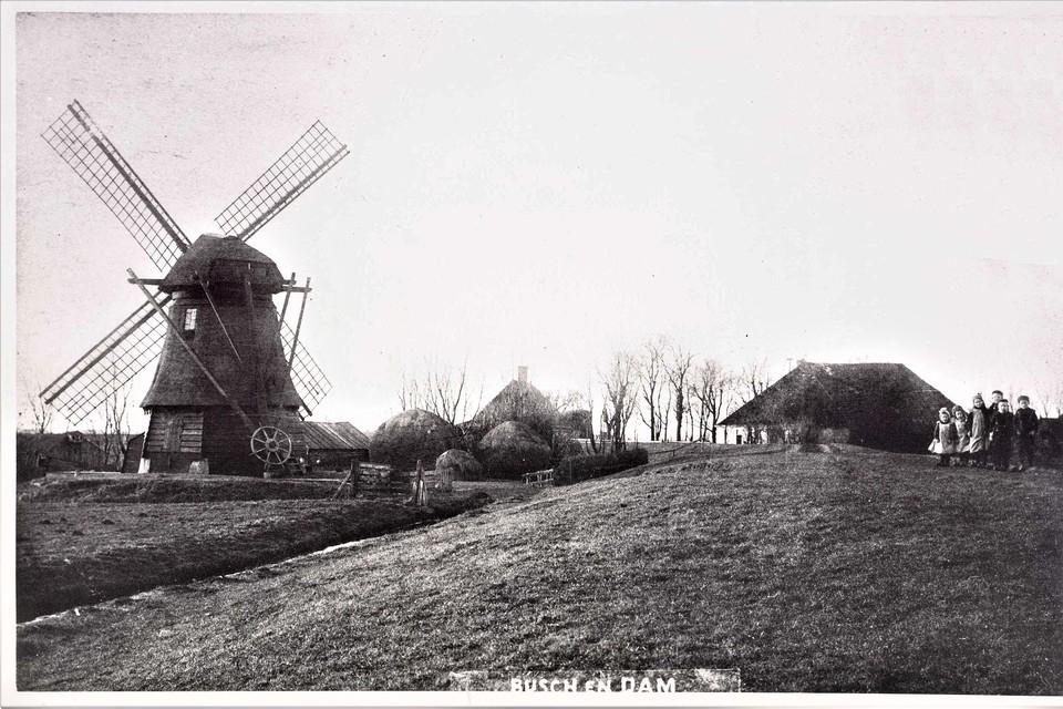 De Waterdief aan Busch en Dam, vóór 1926. De boerderij in het midden is van Piet Noom, rechts de boerderij van Neeft.