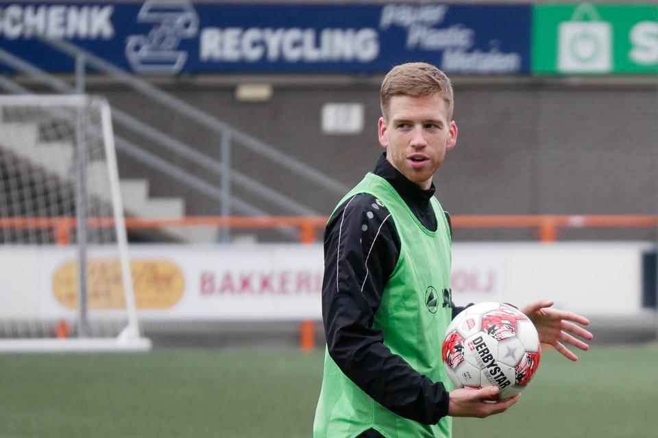 Gijs Smal op de training van FC Volendam.