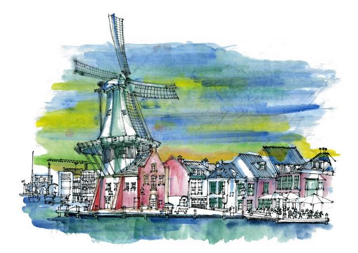 Anne Rose Oosterbaan en de Haarlem Urban Sketchers: 'Tekenen veegt mijn hoofd leeg.'