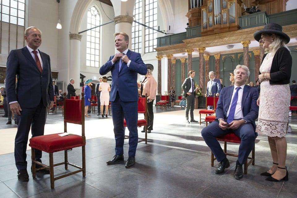 Kamerlid Pieter Omtzigt voorafgaand aan de opening op Prinsjesdag van de Verenigde Vergadering van de Staten-Generaal in de Grote of Sint-Jacobskerk.